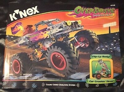 K'Nex Knex OverDrive Monster Truck 14138  with Flip-Up Body Used Complete