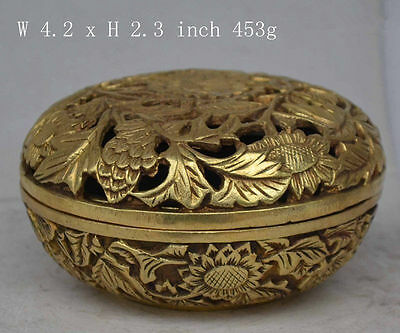collectable handmade ornament rare statue flowers copper Incense burner