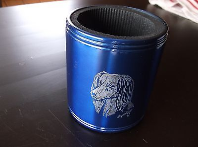 Saluki- Hand engraved Stainless Can Cooler by Ingrid Jonsson