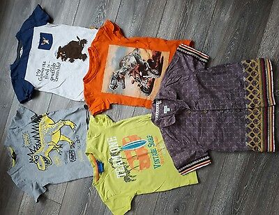 Set of 5 Boy Summer T Shirt and shirt Tops for 3 Years of age