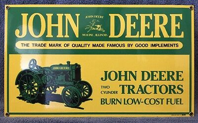 John Deere, Ande Rooney, 1995, Porcelain Sign