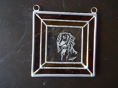 Saluki- New design, hand engraved panel by Ingrid Jonsson