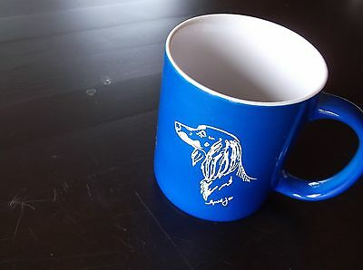 Saluki- Hand engraved Ceramic Mug  by Ingrid Jonsson
