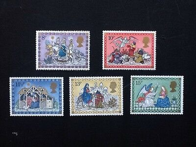 GB, Christmas 1979 set of 5 mnh