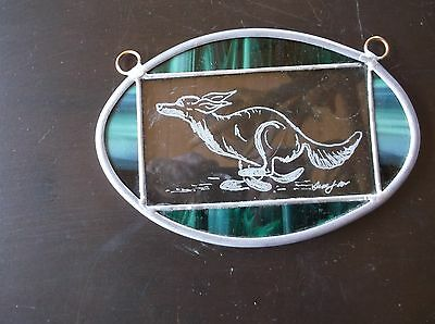 Saluki- New design hand engraved medcallion   by Ingrid Jonsson