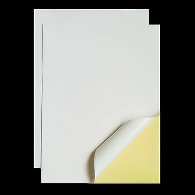 80 Sheets A4 Self Adhesive Glossy Matte Paper Label Sticker Laser Inkjet Print