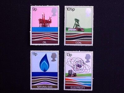 GB. 1977 set of 4 mnh, Energy Resources.