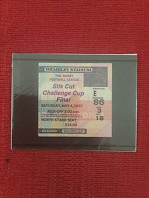 Wigan v Hull 1985 Rugby League Challenge Cup Final Ticket