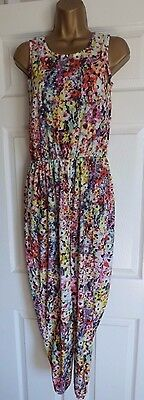 Lovely Girls Summer Floral Jumpsuit Age 14-15 Years Bnwt Rrp £10