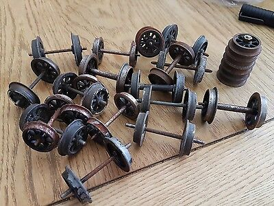 L43 o Gauge Wagon/ engine Wheels large lot spoked