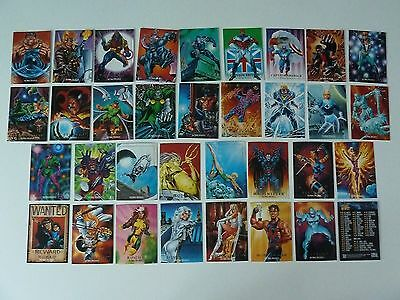34 x Sky Box Marvel Masterpieces Trading Cards from 1992