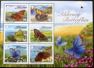 Alderney 2008 Butterflies Miniature Sheet MNH