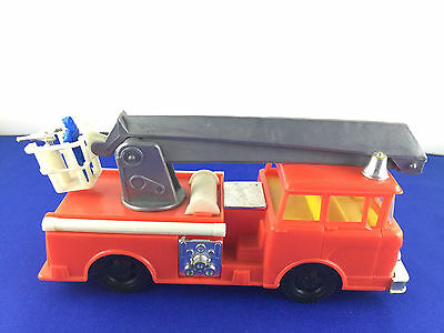 Vintage Jimson Plastic Friction Fire Truck #134 Made in Hong Kong