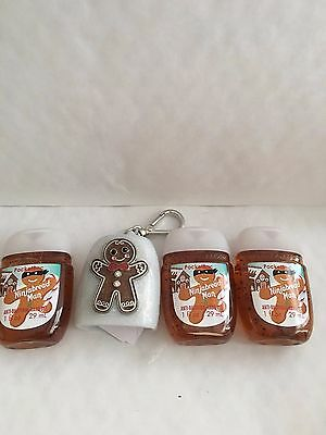 Bath & Body Works NINJABREAD MAN 3-Pack PocketBac + Gingerbread Clip Holder