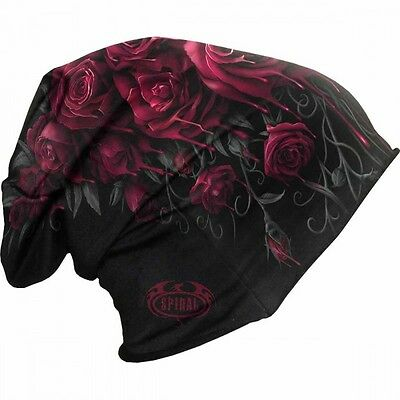 New Blood Rose Lightweight Cotton Beanie knit hat gothic printed darkwear women