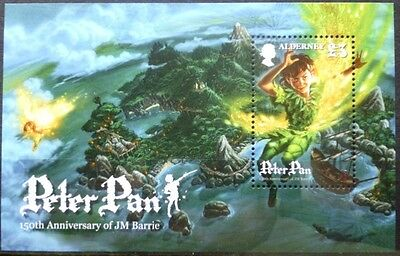 Alderney 2010 Peter Pan Miniature Sheet Sheet MNH