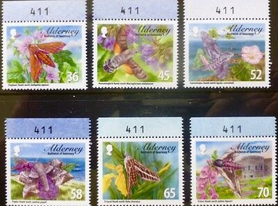 Alderney 2011 Hawk Moths with Identical Sheet Numers MNH (6)