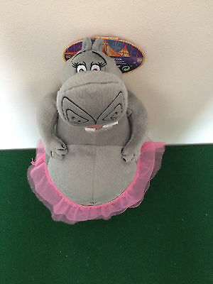GLORIA THE HIPPO FROM MADAGASCAR 3 IN A PINK TUTU ~ 13 inch SOFT PLUSH TOY