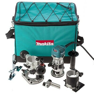 "Bnib Makita Rt0700Cx2 1/4"" Router / Trimmer With Trimmer, Tilt And Plunge Bases"