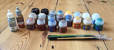 Warhammer Paints - Citadel + Vallejo + Brushes - Almost All New! + £100 Worth!