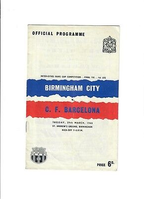 Birmingham City v Barcelona (Inter City Fairs Cup Final - 1st Leg) - 29/03/1960
