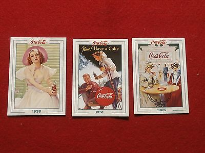 Coca Cola Series 2 Collect-A-Card Prototype Card (S) 4, 5, And 6