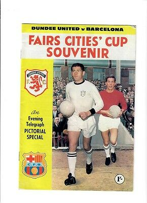 Dundee United v Barcelona (Inter City Fairs Cup Final - 2nd Round) - 16/11/1966