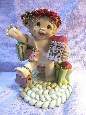 Dreamsicles Little Shopper #1385 Ceramic Cast Art Kristen 2000