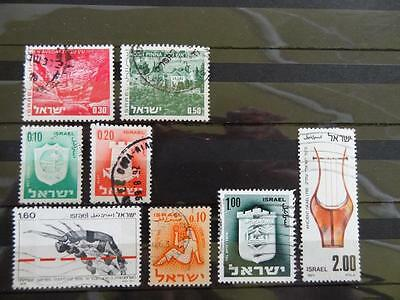 8 Stamps From Israel - Used And Off Paper