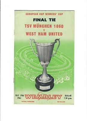 TSV Munchen 1860 v West Ham (European Cup Winners Cup Final) - 19/05/1965