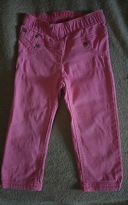 Next Baby Girls Pink Jeggings Jeans Trousers Pants.12-18 Months.