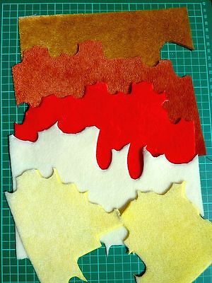 5 Sassy fabrics remains for miniature teddy bear making.