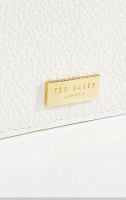 Ted Baker Gold Small Zipper Wallet Card Case Genuine Leather Retails For $100