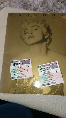 Madonna Who's That Girl Concert Programme and Ticket Stubbs 1987