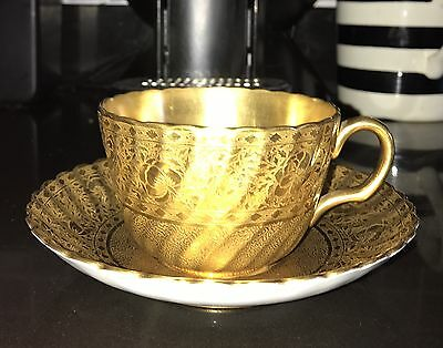 22k Gold Covered Minton Cup& Saucer