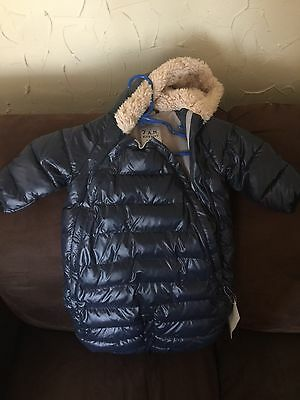 NEW 7AM Enfant Baby Designer Coat Jacket Parka Swaddle Boy Girl Unisex 3-6M