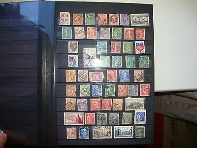 France selection of stamp used