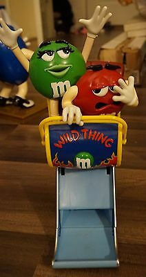M&M Roller Coaster Candy Dispenser featuring Red and Green
