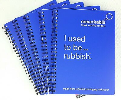 Job Lot Of 50 A5 Remarkable Wirebound Notebooks Eco Friendly Recycled Blue