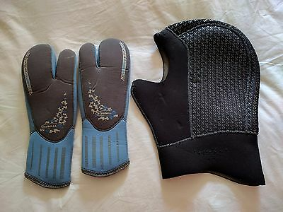 Scubapro Dive Hood and O'Three mitts