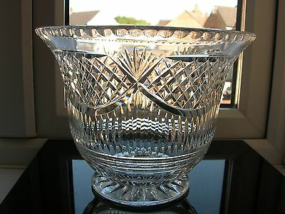 Edinburgh & Leith - Large Cut Footed Bowl Centrepiece - Signed.