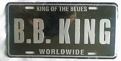 BB King Tour License Plate - KING OF BLUES, Black/Silver