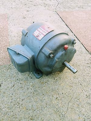 "3 Phase 1 HP Motor 1400RPM ""Brooks"""