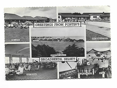 Pontins - Broadreeds Selsey Holiday Camp - Old 1966 P/m Real Photo Pc - Sussex