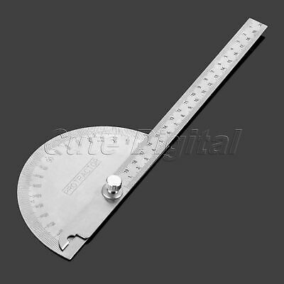 Angle Finder Stainless Steel Protractor 180 Degree Rotation Ruler Measure Tool