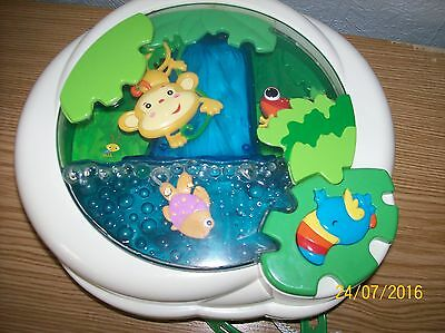 Fisher Price Rainforest PeekaBoo Soother Waterfall Baby Cot Toy Nightlight Sound