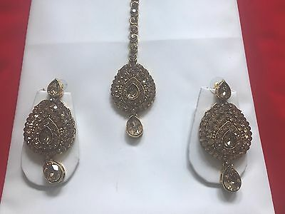 Antique Gold With Stone Indian Jewellery Set