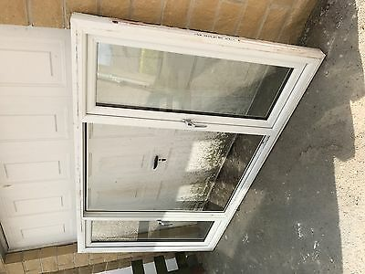 White double glazed PVC window