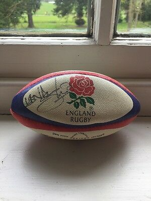 Mini England Rugby Ball Signed by Lawrence Dallaglio