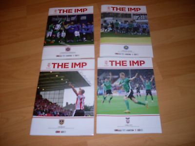 4 lincoln city home programmes from champion winning season 2016/17